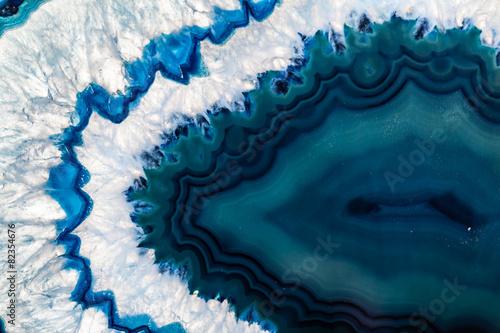 Niebieska brazylijska geoda