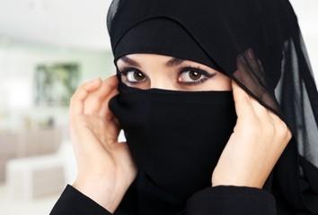 Gulf. Portrait of a beautiful Muslim Arabic girl