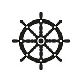 Fototapety The ship steering wheel icon. Sailing symbol. Flat