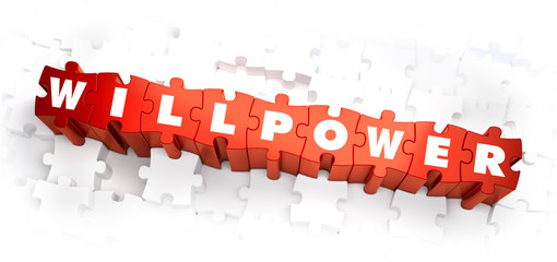 Willpower - White Word on Red Puzzles.
