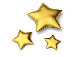 Star. 3D. Three stars