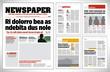 Graphical design newspaper template vector illustration