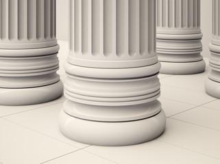 Column. 3D. Columns
