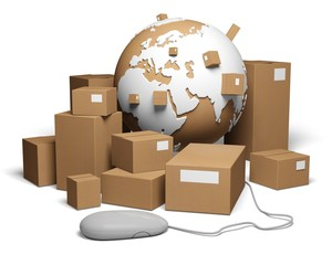 Shipping. 3D. World wide delivery