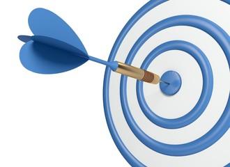 Target. 3D. Blue dart