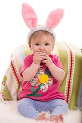 Expressive Easter baby girl