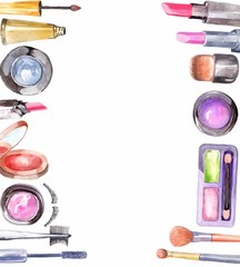 Watercolor cosmetics set