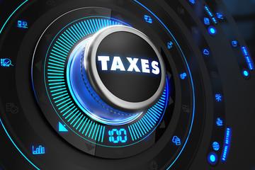 Taxes Controller on Black Control Console.