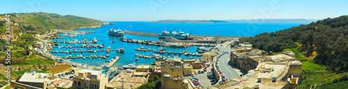 MGARR, MALTA - APRIL 14, 2015: Panorama view on Mgarr port with - 82361844