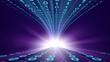 Technology. 3D. Binary code impact