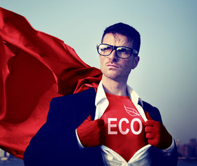 Eco Strong Superhero Success Professional Empowerment Stock