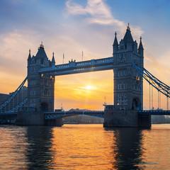 Famous Tower Bridge at sunrise