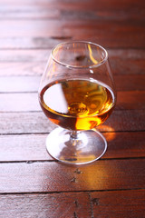 Brandy on wood