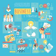 Business concept infographic elements poster
