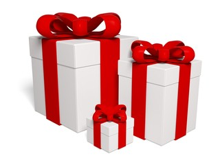 Gift. 3D. Gift boxes