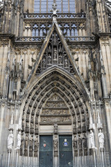 Entrance Gate of the Cathedral in Cologne, Germany
