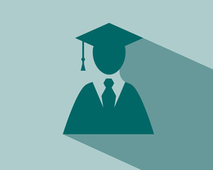 Graduation student flat illustration