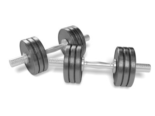 Dumbbell. 3D. Dumbell weights