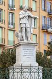 Nice, France. statue de Charles-Felix de Sardaigne a Nice poster
