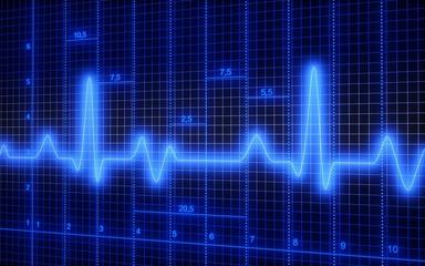 Healthcare And Medicine. 3D. ECG