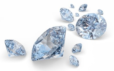 Diamond. 3D. Diamonds
