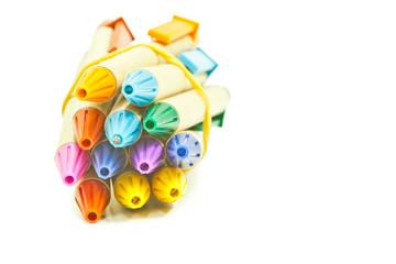 Recycled pens isolated on white