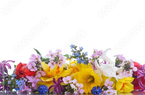 Fotobehang Krokus beautiful bouquet of spring flowers,