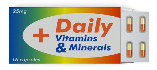 vitamin and minerals capsules