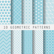 grometric blue patterns - 82370818