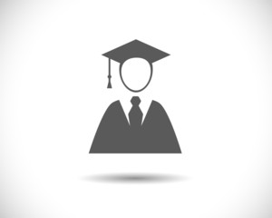 Graduation student young man