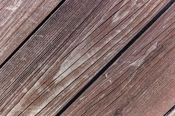 Diagonal wooden vintage planks closeup