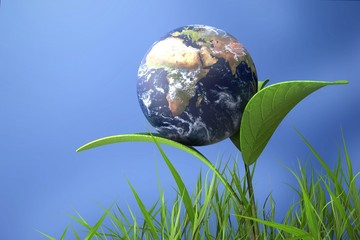 Earth. 3D. Save the Earth Elements of this image furnished by