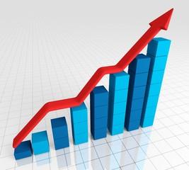 Graph. 3D. Business Chart