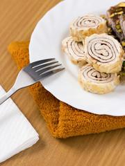 Turkish delight sweet taste delicious on plate
