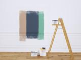 leiter mit wandfarben in einem raum.3d rendering