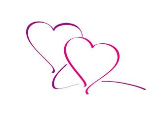 doppelherz - lila - pink