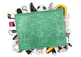 Football Board for tactics and sports equipment