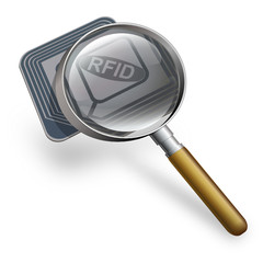 3D RFID chip with a magnifying glass