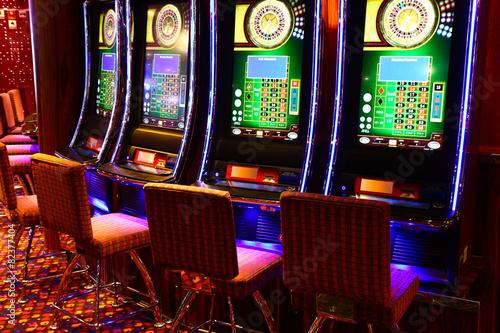 Leinwandbild Motiv Gaming slot machines
