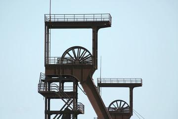 Coal shafts. Serbariu coal mine. Carbonia (Sardinia - Italy)