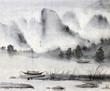 Leinwanddruck Bild - Chinese painting