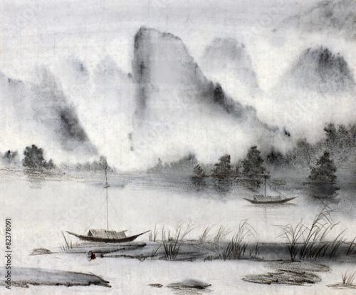 Leinwanddruck Bild Chinese painting