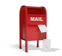 Mailbox. 3D. Mailbox