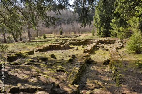 Leinwandbild Motiv ruins of medieval village Pfaffenschlag