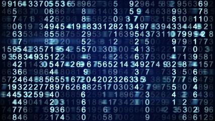 rows of digital data seamless loop 4k (4096x2304)