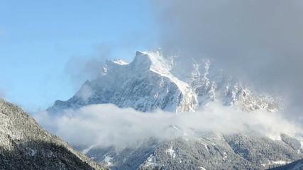 Winter mountain landscape (Austria, Fernpass, Tiroler Alpen)