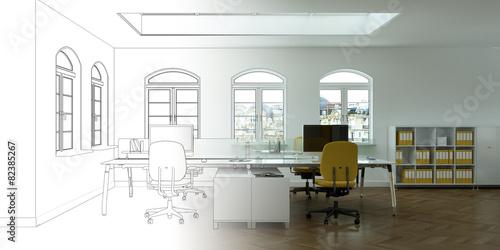 Entwurf modernes Büro - 82385267