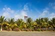 Leinwanddruck Bild - Air Traffic Control Tower on Exotic Island