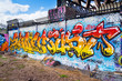 Urban wall art, Shoreditch, London East End.