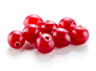 Cranberry isolated on white background.